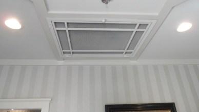 Georgian Ceiling Design - 2013 Southern Living Showcase Home, shown in Matte White