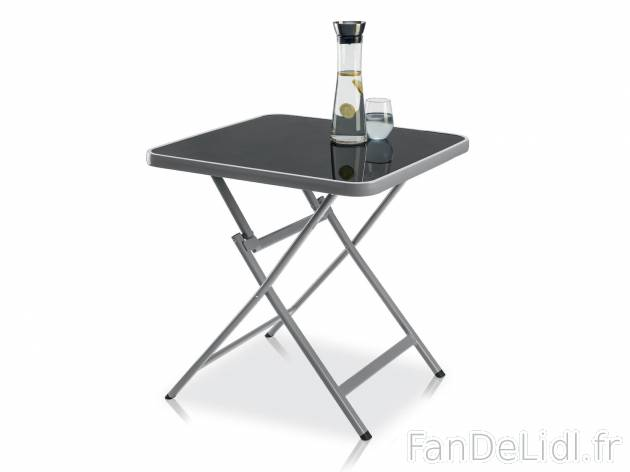 table pliante en aluminium jardin
