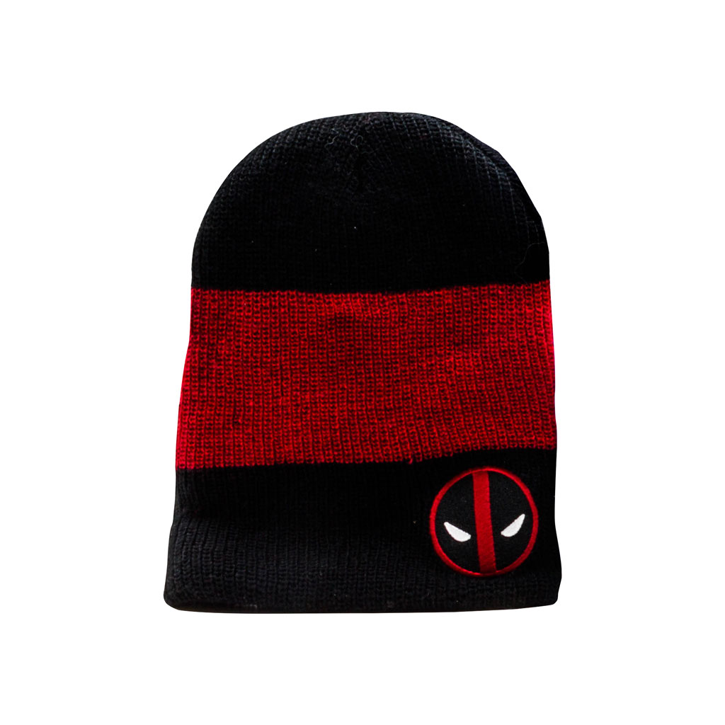 Deadpool Slouch black and red Beanie winter Toque