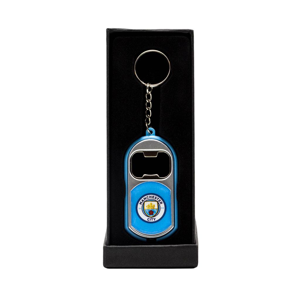 Manchester City Torch Light Bottle Opener Keychain