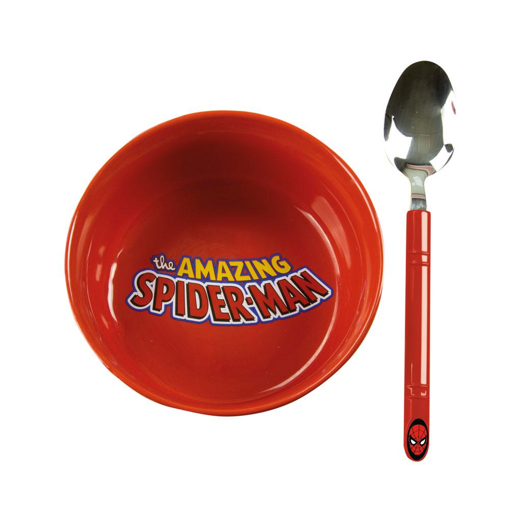 Spiderman Breakfast Bowl with spoon Set
