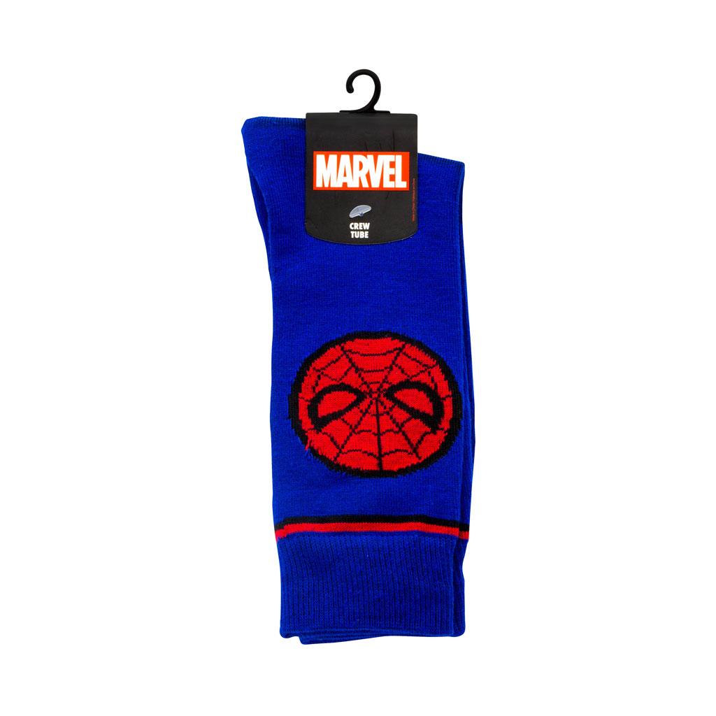 Spiderman adult blue Crew Socks