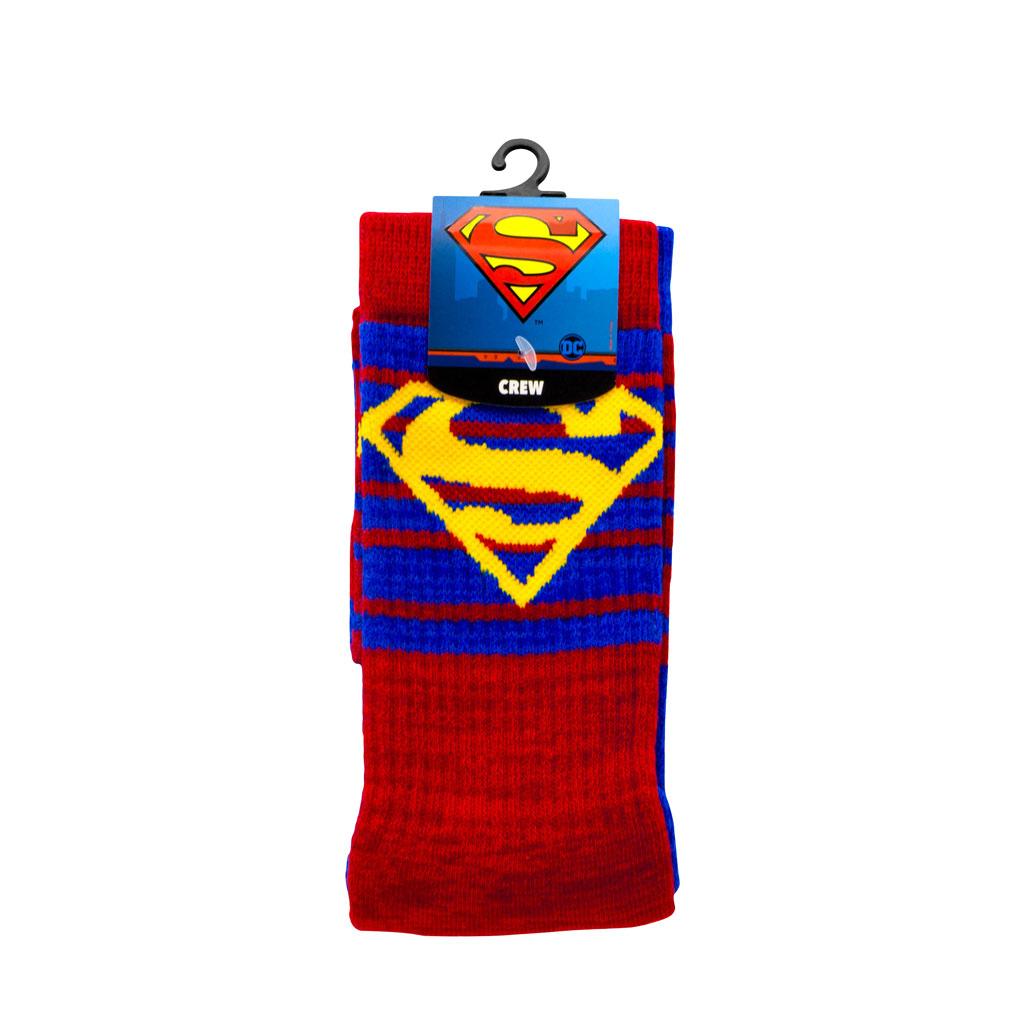 Superman Flipped Pattern Athletic Socks