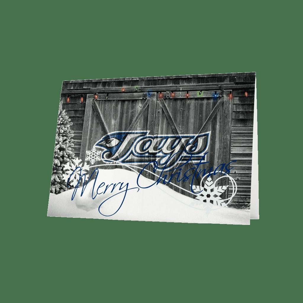 Blue Jays Merry Christmas greeting card