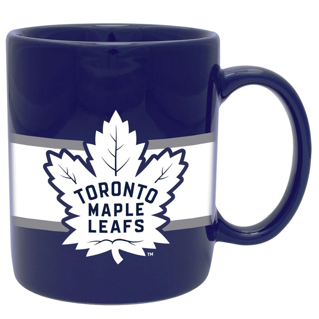 Toronto Maple Leafs 11oz. Stripe Ceramic Mug