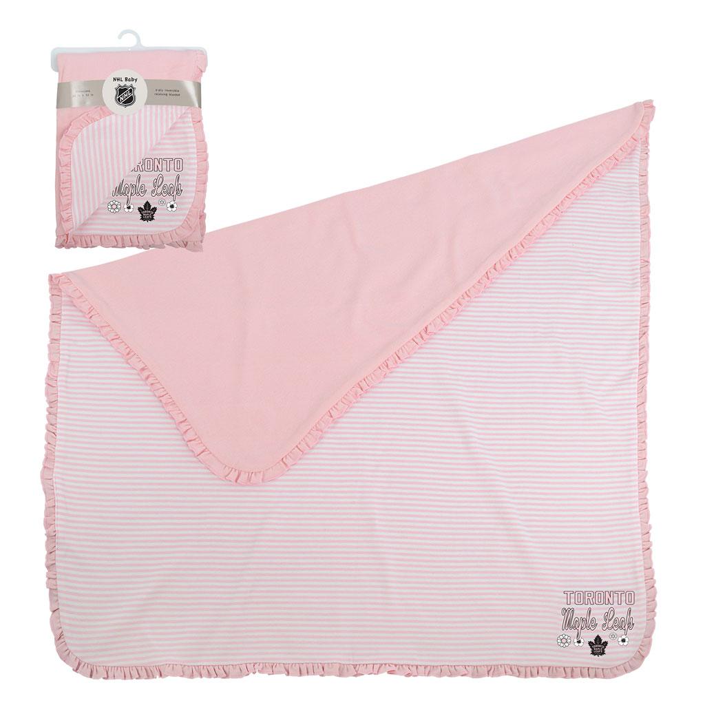 Toronto Maple Leafs Sweet Fan Blanket Pink