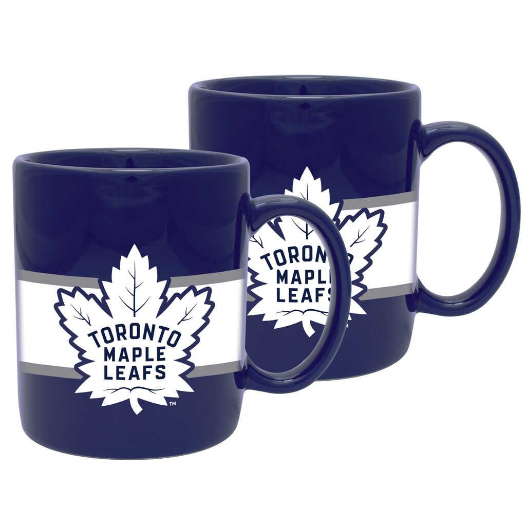 Maple Leafs Striped Ceramic Mug