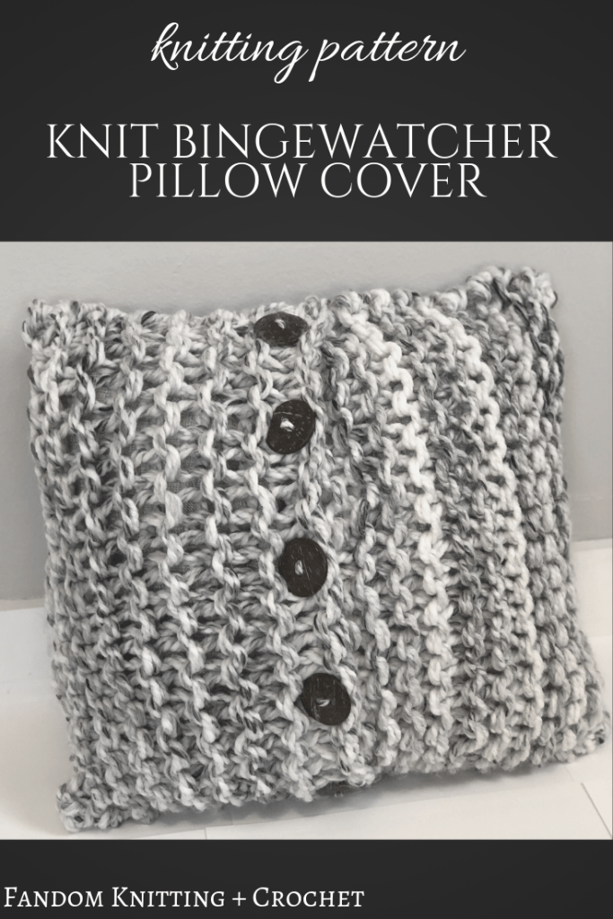 c6b2cb04796 Knitting pattern for easy button pillow cover.