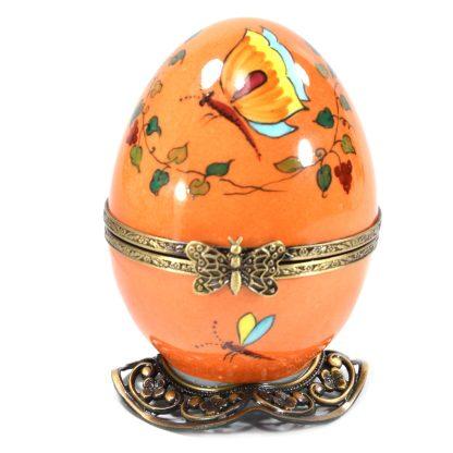 orange bird automata limoges music egg