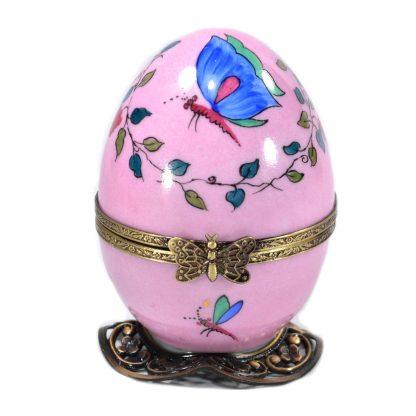 pink tea automata limoges music egg