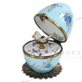 butterfly automata blue limoges music egg