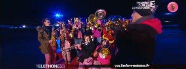 Les MaKaBés au Téléthon 2015, plateau France TV à l'Hippodrome de Longchamp