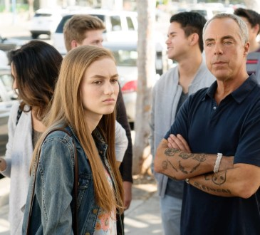 """Bosch: Season 3"" - (L to R) Madison Lintz as Maddie Bosch, Titus Welliver as Harry Bosch"