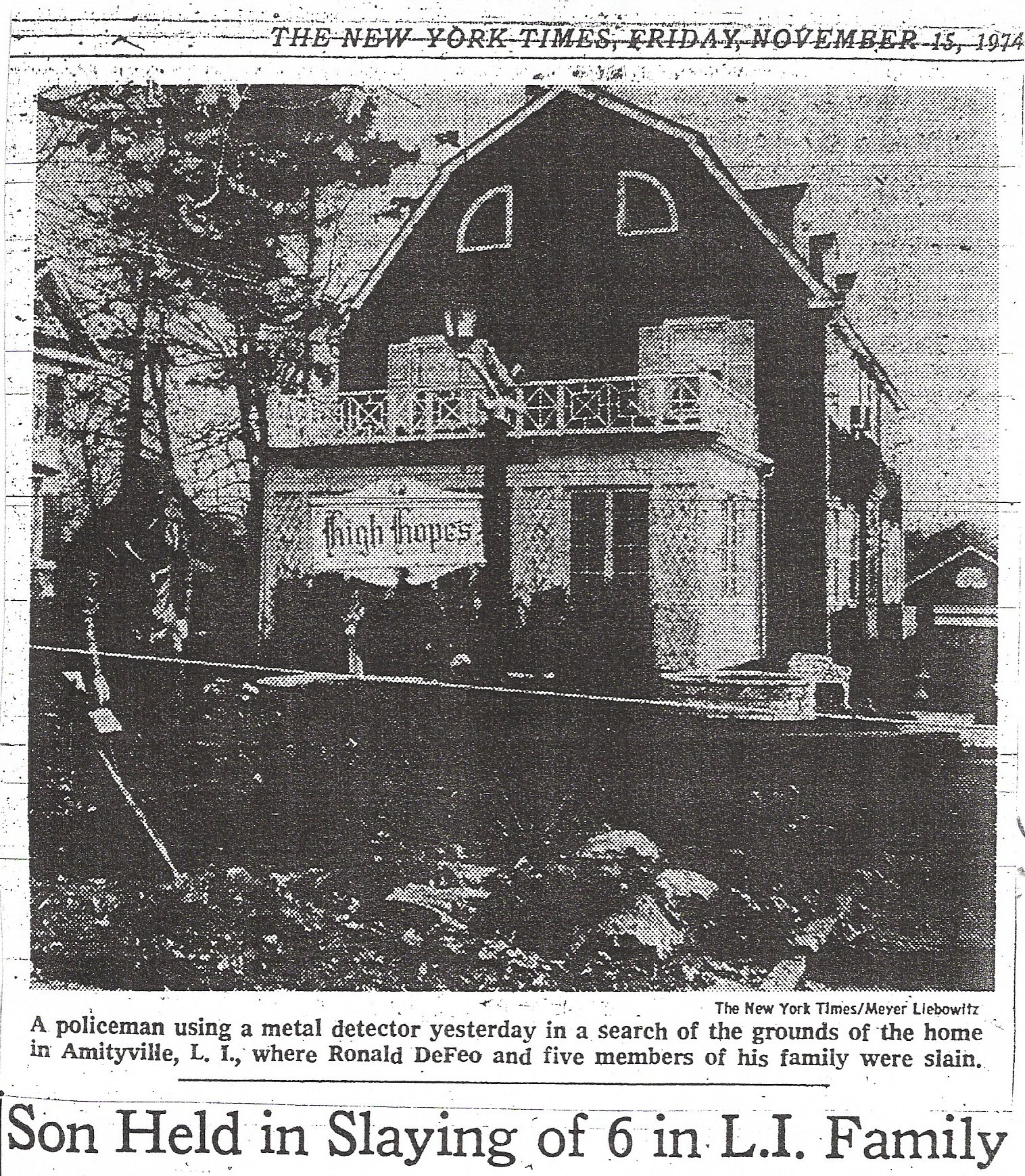 The Amityville House Ghost