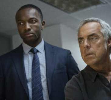"""Bosch: Season 4"" - Jamie Hector and Titus Welliver in Season 4 of Bosch."