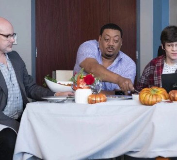 "SPEECHLESS - ""C-E-- CELEBRITY S-U-- SUITE"" The ABC Television Network. (ABC/John Fleenor) ROB CORDDRY, CEDRIC YARBROUGH, MICAH FOWLER"