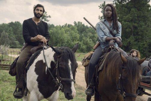 Avi Nash as Siddiq, Danai Gurira as Michonne- The Walking Dead _ Season 9, Episode 8 -