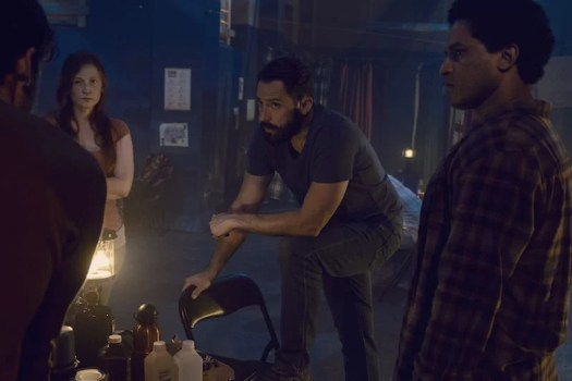 Ashlyn Stallings as Amanda, Steve Kazee as Frank, Javier Carrasquillo as Matias - The Walking Dead _ Season 9, Episode 10 -