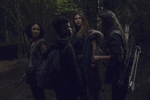 Lauren Ridloff as Connie, Angel Theory as Kelly, Nadia Hilker as Magna, Eleanor Matsuura as Yumiko - The Walking Dead _ Season 9, Episode 10 -