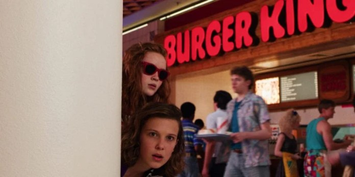Sadie Sink and Millie Bobby Brown in Stranger Things 3 photo credit: Netflix