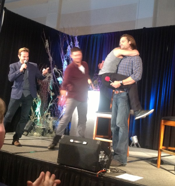 Jensen gives Osric a whack