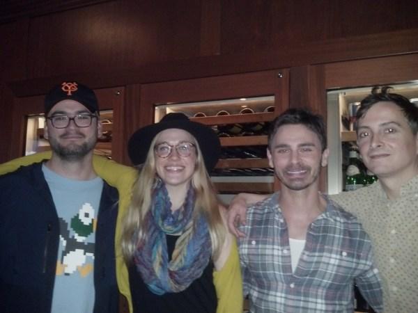 Robert Berens (far R) w Robbie, Jenny and Eric