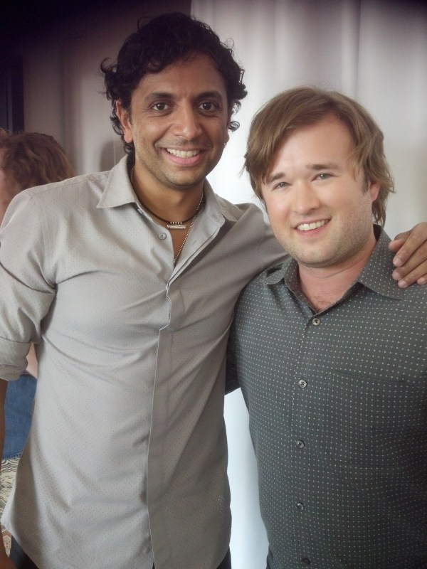 Sixth Sense reunion! M. Night Shyamalan and Haley Joel Osment