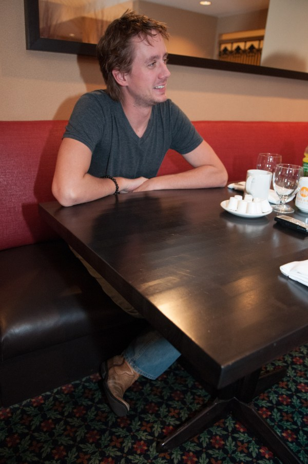 Chad at our very first chat. Photo Lizz Sisson