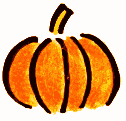 Hand drawn pumpkin clipart