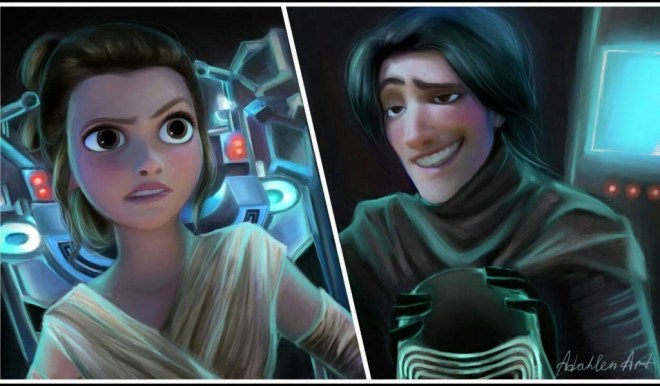 Tangled The Force Awakens crossover
