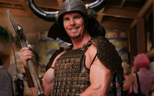 Johnny Drama in Viking Quest costume