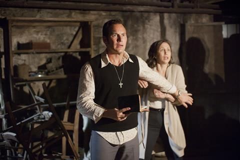 Patrick Wilson and Vera Farmiga scared in The Conjuring 2