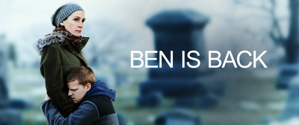 Ben is Back movie poster with Julia Roberts and Lucas Hedges
