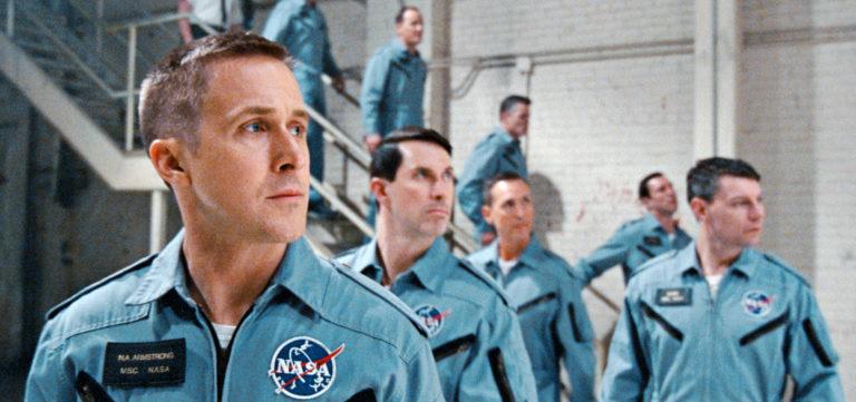 ryan gosling in a nasa astronaut uniform for first man