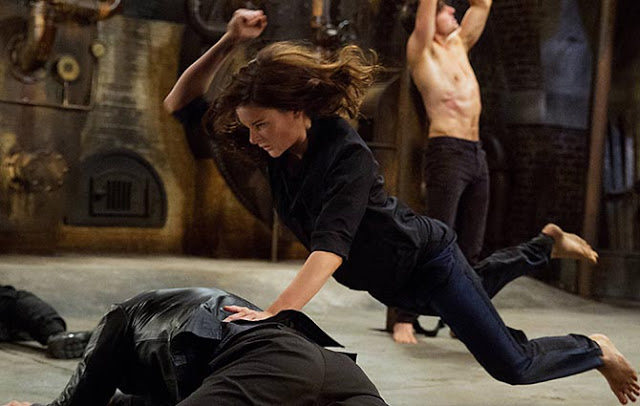 ilsa faust (rebecca ferguson) fighting in mission impossible rogue nation