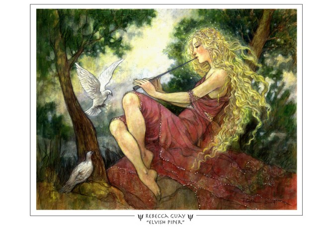 Magic: The Gathering card - Elvish Piper, illustrated by Rebecca Guay