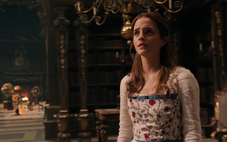 beauty and the beast trailer - belle in the library