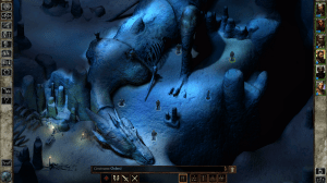Icewind Dale dragon in cave