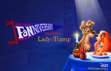 D23 Lady and the Tramp Fanniversary Banner