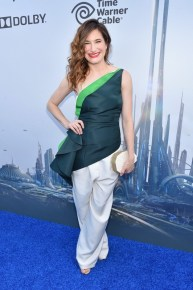 """ANAHEIM, CA - MAY 09: Actress Kathryn Hahn attends the world premiere of Disney's """"Tomorrowland"""" at Disneyland, Anaheim on May 9, 2015 in Anaheim, California. (Photo by Alberto E. Rodriguez/Getty Images for Disney) *** Local Caption *** Kathryn Hahn"""