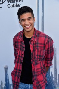 "ANAHEIM, CA - MAY 09: Actor Jordan Fisher attends the world premiere of Disney's ""Tomorrowland"" at Disneyland, Anaheim on May 9, 2015 in Anaheim, California. (Photo by Alberto E. Rodriguez/Getty Images for Disney) *** Local Caption *** Jordan Fisher"