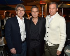 "ANAHEIM, CA - MAY 09: (L-R) Chairman of the Walt Disney Studios Alan Horn, actor George Clooney and The Walt Disney Company Chairman and CEO Bob Iger attend the after party for the world premiere of Disney's ""Tomorrowland"" at Disneyland, Anaheim on May 9, 2015 in Anaheim, California. (Photo by Alberto E. Rodriguez/Getty Images for Disney) *** Local Caption *** Bob Iger;Alan Horn;George Clooney"