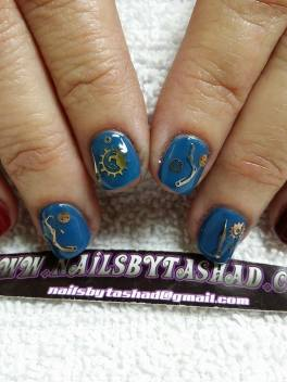 Nail Art in style of Steampunk
