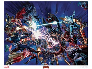 Alex Ross SDCC 2015 Oversized Secret Wars Lithograph