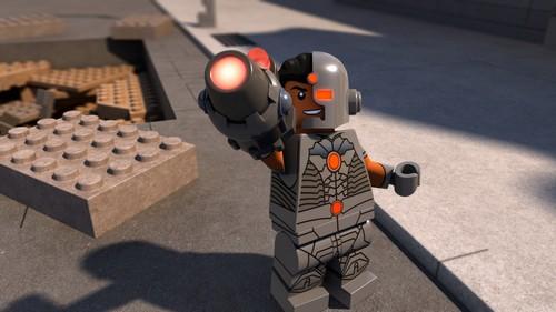 Cyborg being heroic
