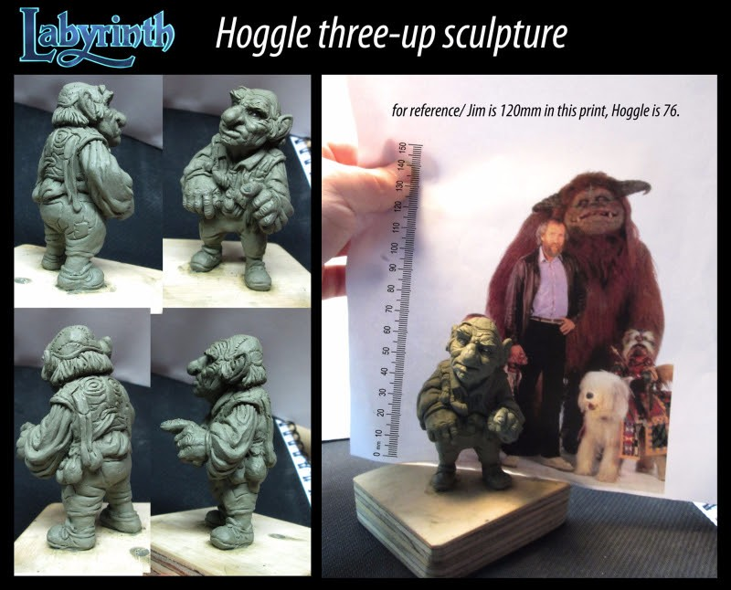 Hoggle Three-up sculpture from River Horse