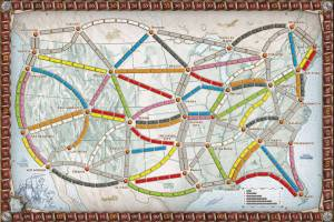 Ticket to Ride Map of USA