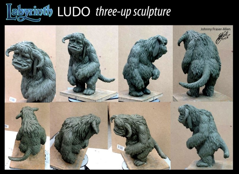 Three Up sculpture for Ludo from River Horse Labyrinth Game