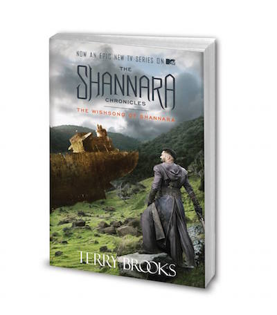 The Wishsong of Shannara new cover with Allanon on the front