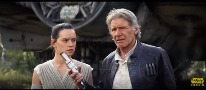Han Solo in the Star Wars: The Force Awakens TV Spot